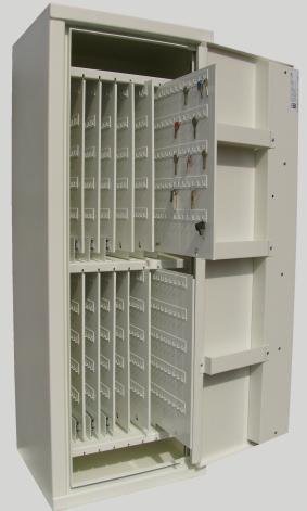Säkerhetsnyckelskåp med långa krokar