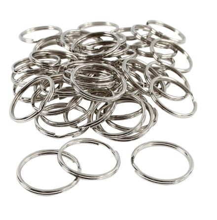 Nyckelringar i rostfritt stål