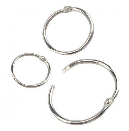 Nyckelring med Haklås Binder Rings