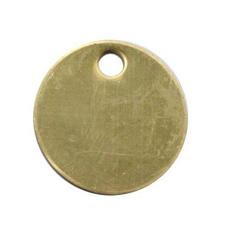 Nyckelbricka i mässing rund