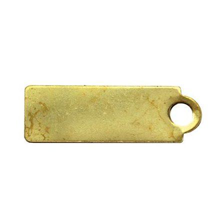 Nyckelbricka i mässing avlång