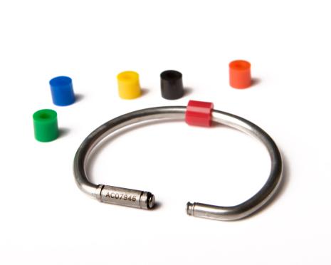 Högsäkerhetsnyckelring i rostfritt stål