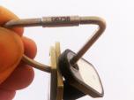 Högsäkerhetsnyckelring rostfritt stål