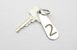 Nyckelbricka i Metall Päronformad